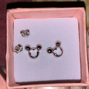 Mickey Mouse silver earrings